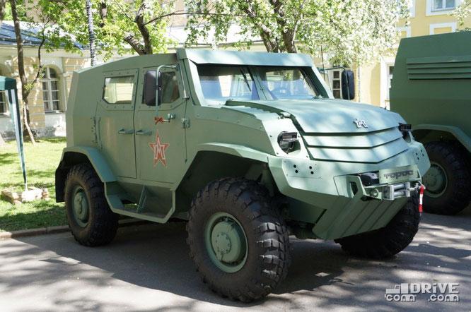 Опытный дозорный автомобиль-амфибия Торос. Москва. 09/05/2014