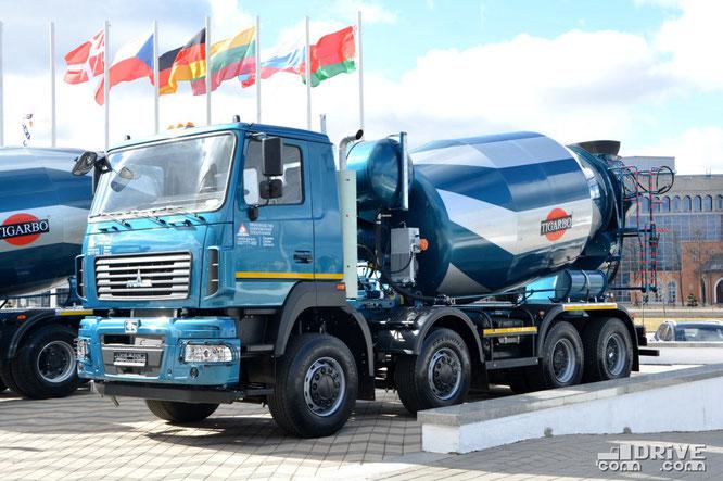 Автобетоносмеситель АБС-10ДА (модель 69366A) на шасси МАЗ-6516C9-560-000