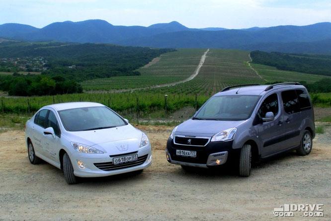 Peugeot 408 и Peugeot Partner. Абрау. 06/06/2017
