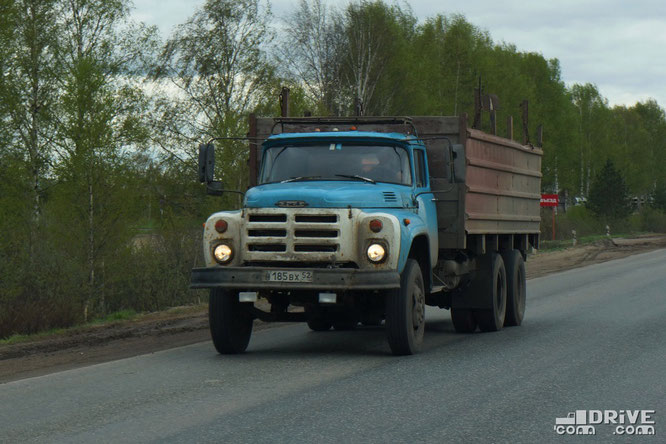 Грузовой автомобиль ЗИЛ-133ГЯ. Трасса Шарья - Нижний Новгород. 02/05/2012