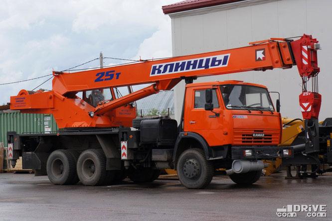 Автокран КС-55713-1К на шасси КАМАЗ-651153. Масса 21 100 кг. Площадка техники Русбизнесавто (Альфа). 28/05/2012
