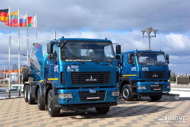Автобетоносмесители АБС-11ДА (69367A) и АБС-10ДА (69366A) на шасси МАЗ-6516C9. 27/03/2019