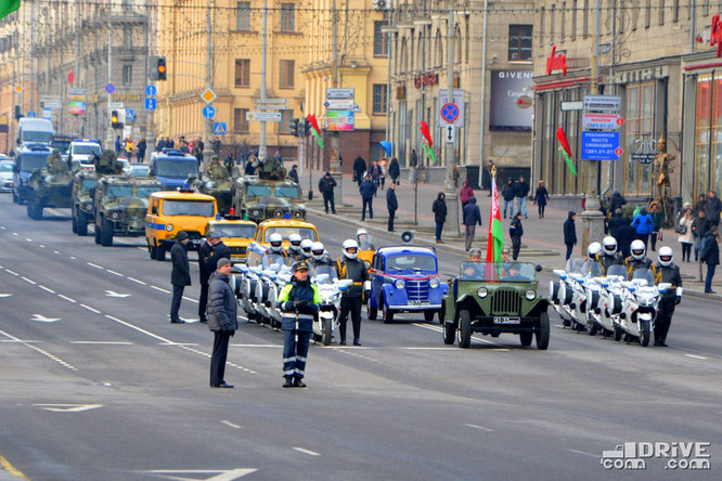 Парад 100 лет милиции Беларуси. Минск. 04/03/2017