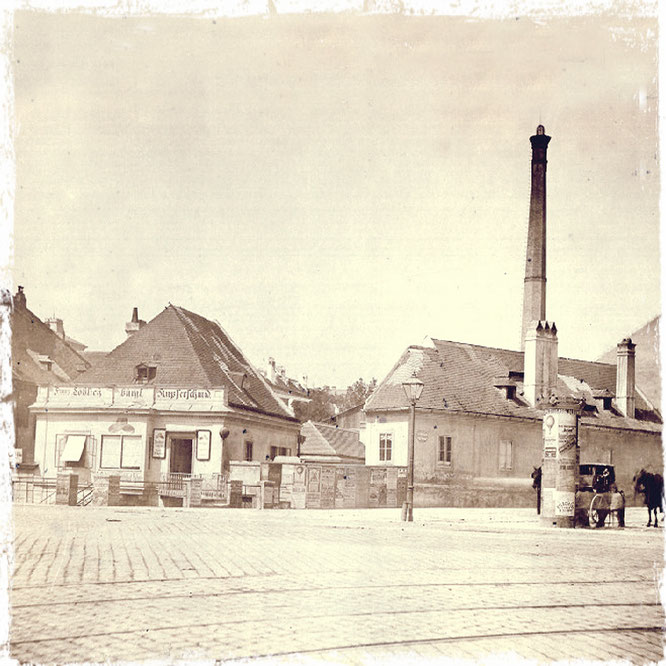 Himmelpfortgrund 1 (heute Nussdoferstr.21) - Aufnahme nach der Alserbach -Aufschüttung