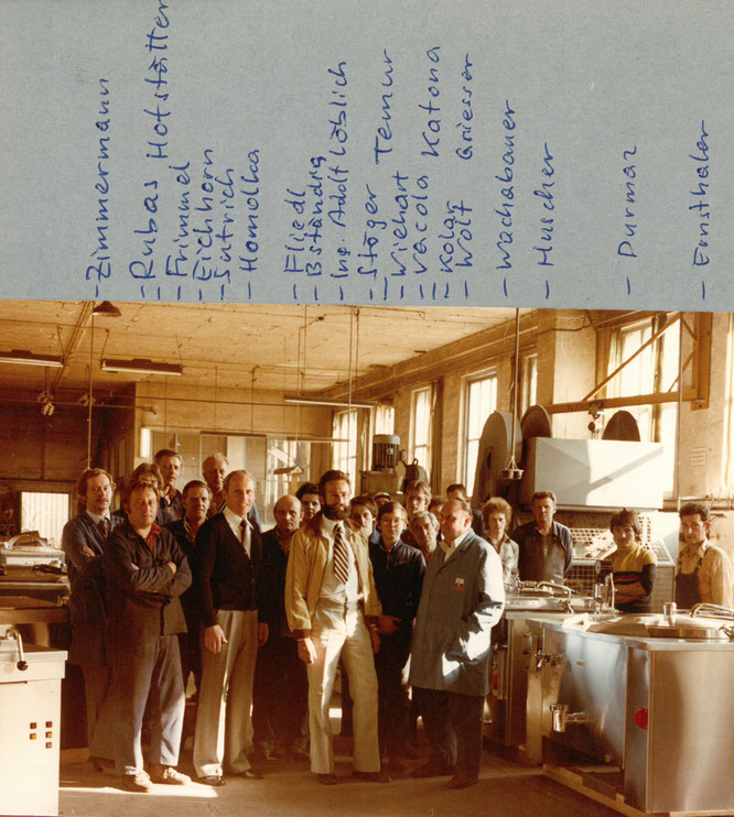 1978   Dir. F.Homolka , Ing.Adolf Löblich und das Team der Grossküchenproduktion