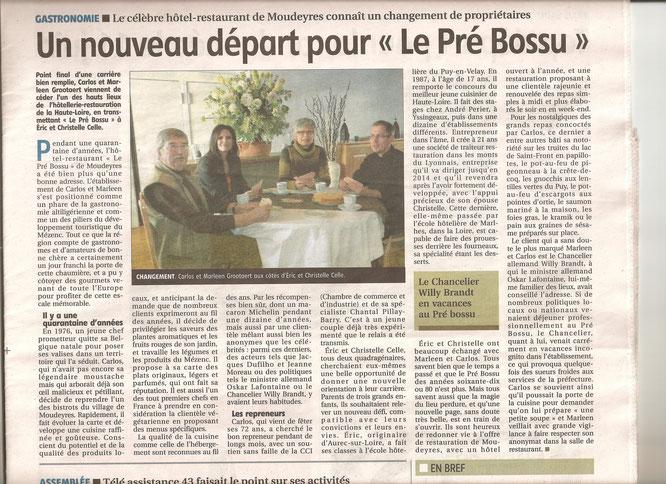 L'Eveil de la Haute Loire du 25 mars 2016