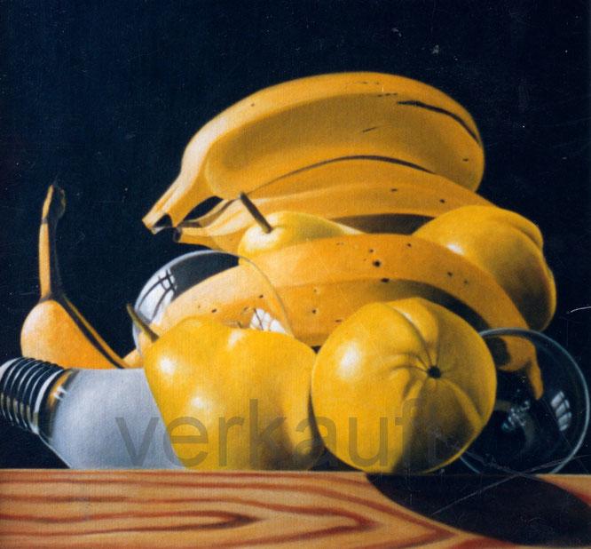 Birnen und Bananen Ölbild