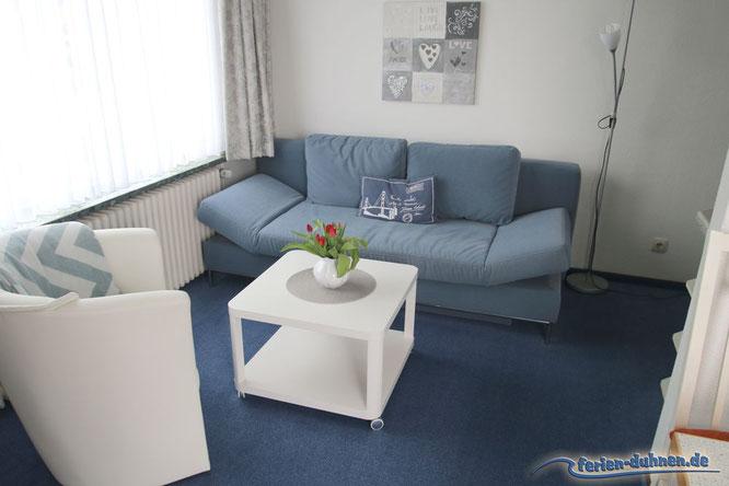 Ferienwohnung für 2 - 3 Personen mit Balkon und extra Schlafzimmer in Cuxhaven Duhnen