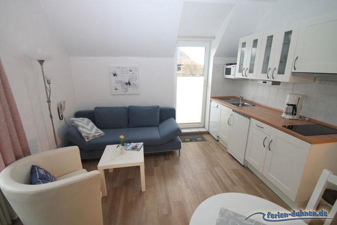 Ferienwohnung 2 Personen mit Schlafzimmer und Balkon in Cuxhaven Duhnen