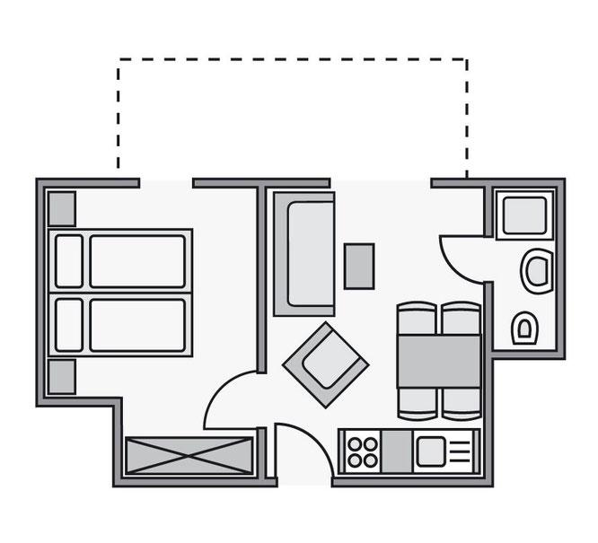 Grundriss Ferienwohnung C3 im Haus Wittholm in Cuxhaven Duhnen