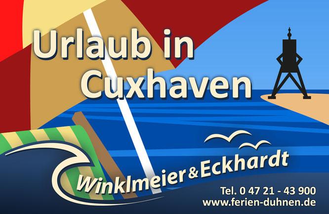 Cuxhaven an der Nordsee - Urlaub am Strand von Cuxhaven Duhnen