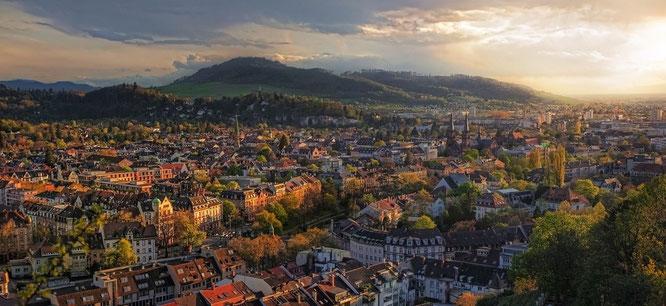 Bild: Panorama Überblick von Freiburg im Breisgau
