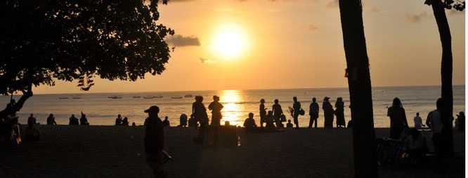 Strand Bali Sonnenuntergang