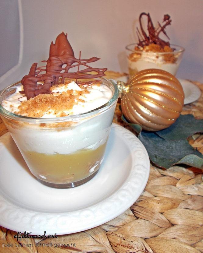 Schneller Nachtisch: Weihnachten trifft Tiramisu