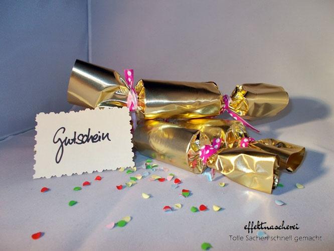 Knallbonbons bringen Wünsche und Geschenke- effektnascheri