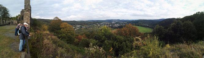 Panoramablick von der Burgruine