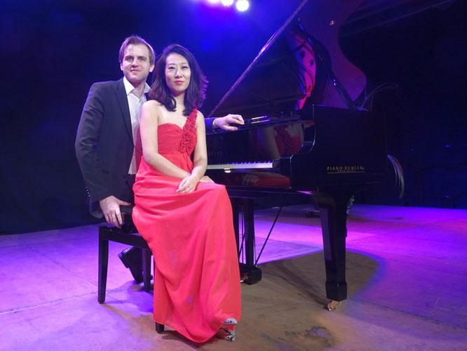 Das Klavierduett Xin Wang und Florian Koltun. Foto: G. Kicker.