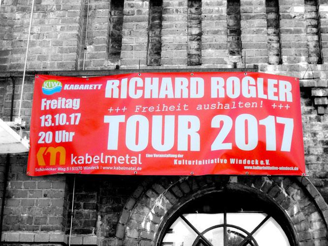 """Richard Rogler machte mit seinem Programm """"Tour 2017 - Freiheit aushalten!"""" den Auftakt zu einem abwechslungsreichen Wochenende im Bürger- und Kulturzentrum kabelmetal"""