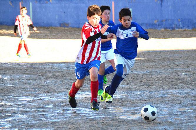 El Alevín A venció por 2-4 al Marianistas. Foto: dxtmarias.com