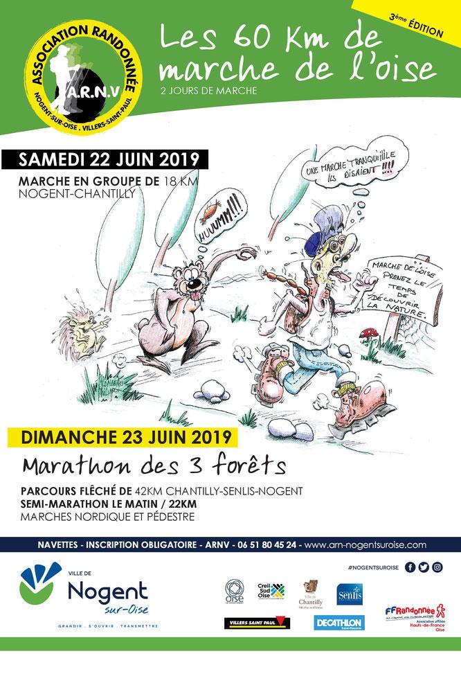 Marathon -  Marche à  pied - Marche nordique  - grande distance .