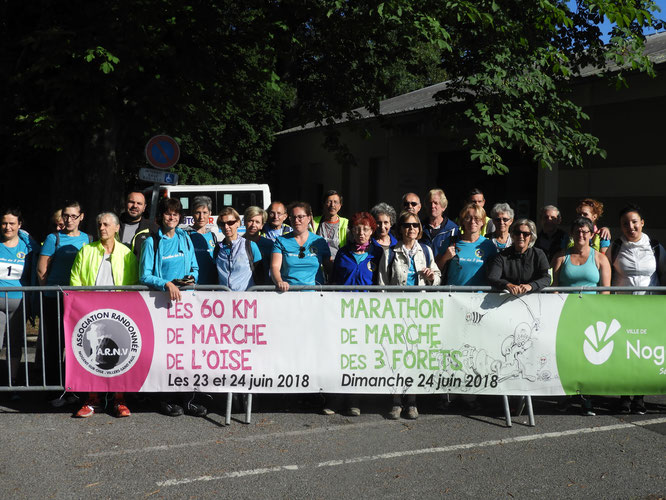 Au départ  du  3 éme 60 km de  marche de  l'Oise  le  23 juin  2018  . Nogent  à Chantilly