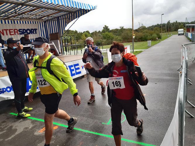 Marathon d'Amiens - arrivée d'un de nos groupes.  Bravo .