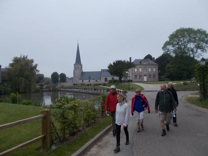 2 eme  jour   - Tour de  Saint Valery en  Caux  .  mai  2018 -