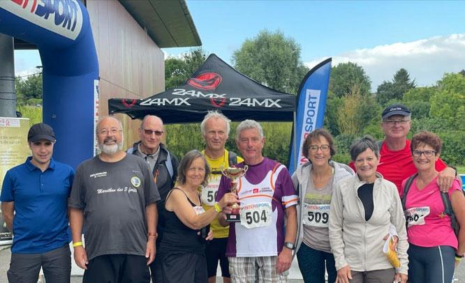 28 AOUT 2021 -  10 participants  du club  : 1 semi et 9 marathoniens . Félicitations  aux 4 randonneurs dont c'était le  1er marathon .Nous avons reçu une coupe pour le grand nombre de participants.