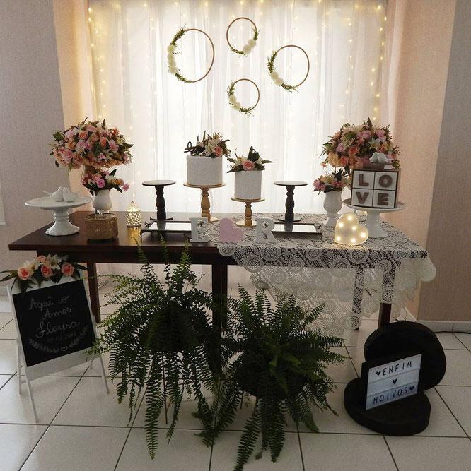 decoracion para boda en casa