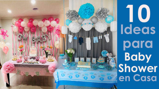 10 ideas para baby shower en casa