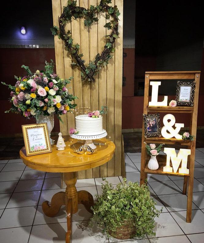 arreglo sencillo para boda en casa