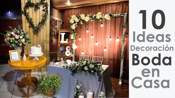 10 ideas para decoracion de boda en casa