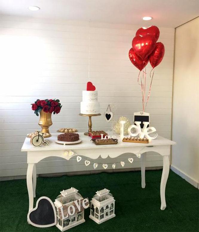 mesa de dulces sencilla para boda
