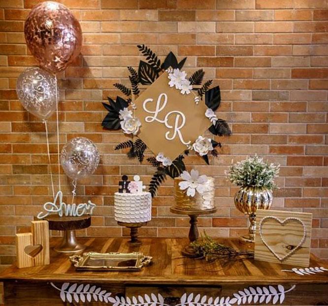 mesa de dulces para boda en casa