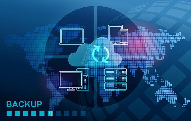 Grafik zum Backup auf der Cloud