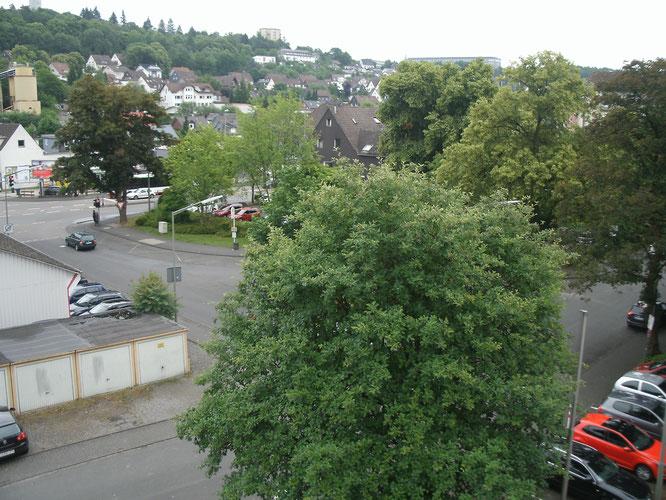 Blick vom Dach des A-Gebäudes