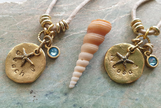 Personalized word necklaces on vegan cord handmade in Noosa Australia
