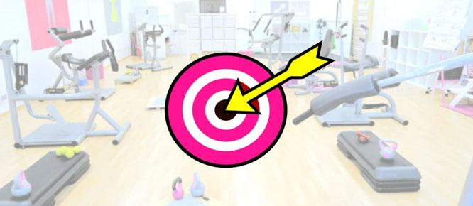 Frauen Fitness Grafik Zielscheibe Erfolgsgeschichten
