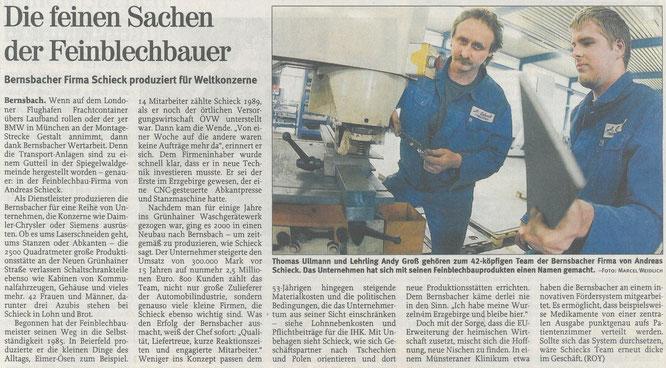 Pressemitteilung - Freie Presse Chemnitz - 2008