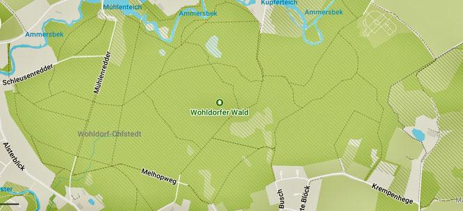 Karte vom Wohldorfer Wald