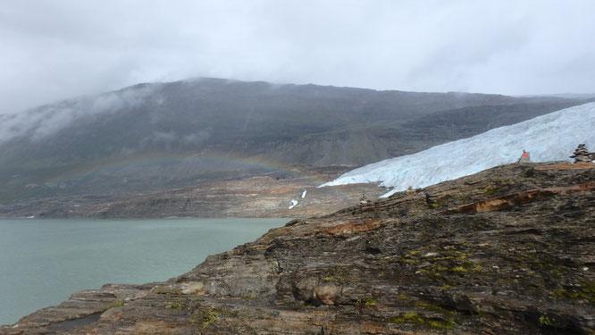 Regenbogen am Austerdalsisen