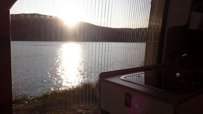 Übernachtung mit Blick auf den Fjord