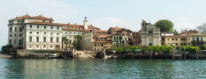 Bild: Der Palazzo Borromeo auf der Insel Bella im Lago Maggiore