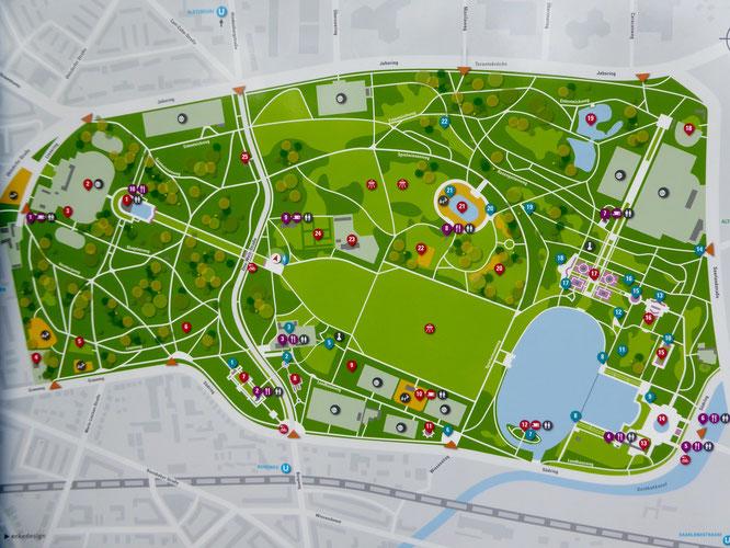 Bild: Karte vom Stadtplan Hamburg
