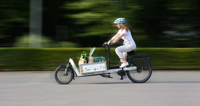 Das Reinbeker Lastenrad verträgt eine ordentliche Zuladung für klimafreundliche Transporte