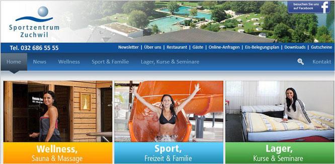 Bilder vom Sportzentrum Schweiz: Sauna, Schwimmbad, Hotelzimmer