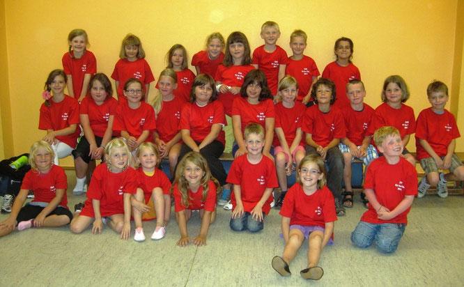 26 Kinder nahmen am zweiten Bewegungswochenende des SV Kripp teil.