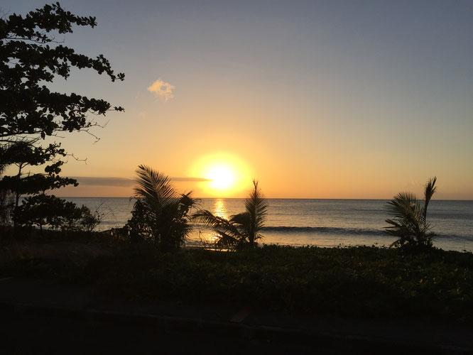 Dernier coucher de soleil, Anse Rifflet, Basse Terre, Guadeloupe