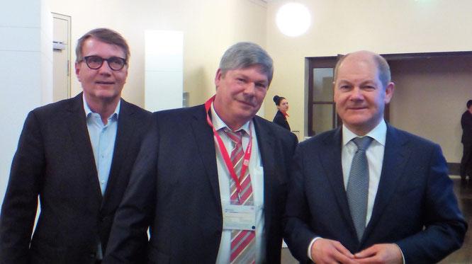 Willi Pusch mit Ronald Pofalla und Olaf Scholz auf dem DB Nachhaltigkeitstag