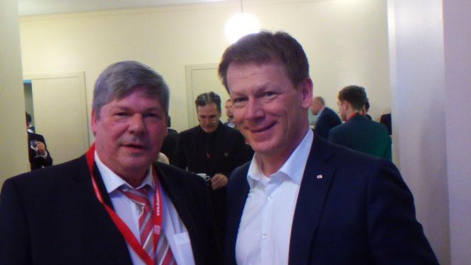 Willi Pusch mit Dr. Richard Lutz, Vorstandsvorsitzender DB AG  auf dem DB Nachhaltigkeitstag